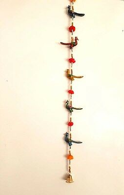Indian Metal Peacock Wall Hanging Multi color Curtain Hanging Home Decor Gift