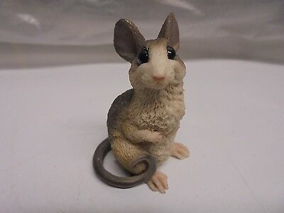 Mini/Small Hand Made/Painted Resin Mouse/Hamster/Rat Sitting Statue/Figurine
