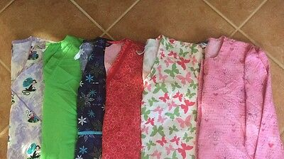 LOT Of 5 Scrub Tops And 1 Jacket. Size Small