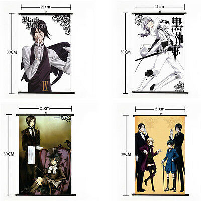 """8""""*12""""Home Decor Japanese Black Butler Cosplay Anime Wall Poster Scroll Painting"""