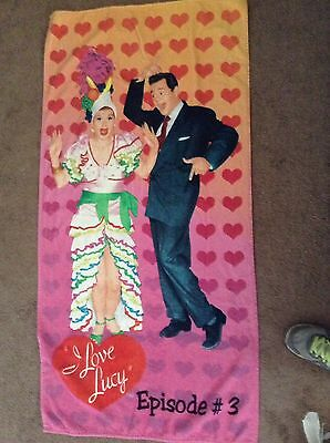 I Love Lucy Comic Licensed Beach Towel 60in by 30in