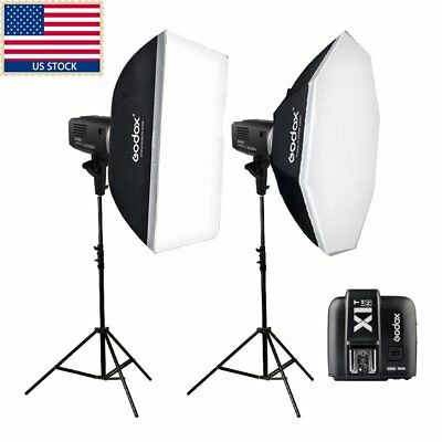 1200W 2x Godox AD600BM 600W HSS 1/8000s Studio Flash+ Trigger +Softbox f Nikon