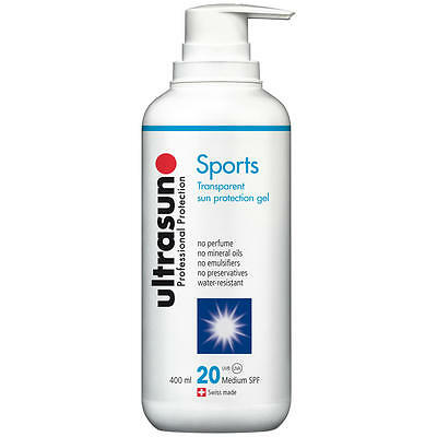Ultrasun Klar Sport SPF20 (400ml) Wahr Once a Tag FREI Express P & P