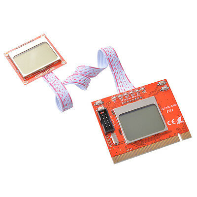 PCI Analyzer Diagnostic Post Card Tester w/ LCD Display PTI8 for PC Laptop AC540