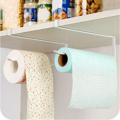 Kitchen Roll Holder Under Shelf Paper Towel Rack Over Door Stainless Steel