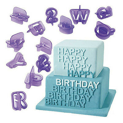 40PCS Lcing Cutter Mold Mold Number Letter Fondant Cake Decorating Set Plastic