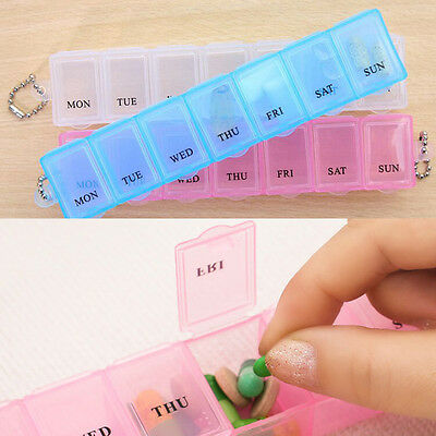 7 Days Weekly Tablet Pill Medicine Box Holder Storage Container Case Pill Box