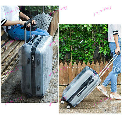 """20"""" 22"""" 24"""" 26"""" 28"""" Clear Luggage Suitcase Case Cover Waterproof Protector New"""