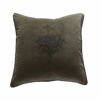 Green velvet corduroy pillow embroidered black baroque 70X70 high quality ILI