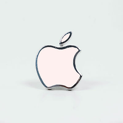 Apple Logo Silver Enameled Pin,  New in Box