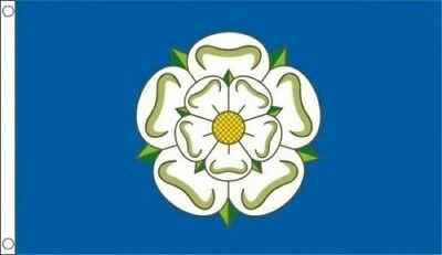 Yorkshire White Rose Flag 5Ft X 3Ft Official High Quality Denier Flags