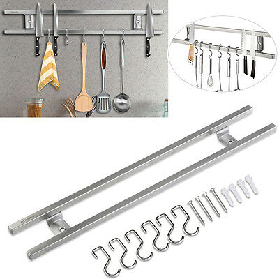 Wall Mounted Magnetic Strips Knife Holder Stainless Steel Kitchen Utensil Rack