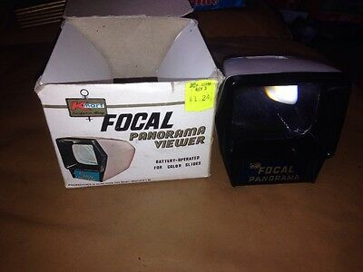 Vintage Kmart Focal Panorama Battery Operated Illuminated Slide Viewer
