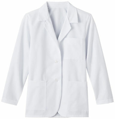 Meta Women's New Long Sleeve Soil Release Consultation 3 Pockets Lab Coat. 15104