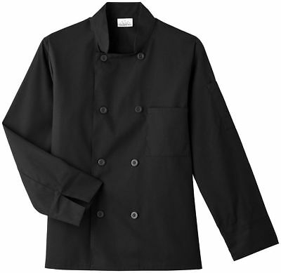 Five Star Adult Unisex Long Sleeve Stand Up Collar 8 Button Chef Jacket. 18000