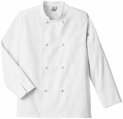 Five Star Adult Unisex Knot Button French Cuffs Stand Up Collar Chef Coat. 18016