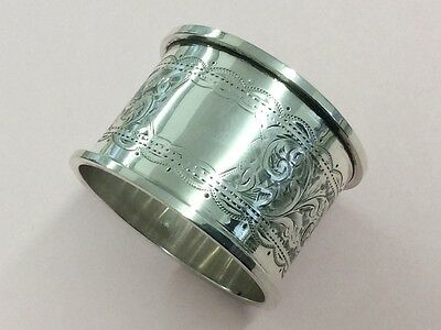 Quality Antique Sterling Silver Napkin Ring 1911