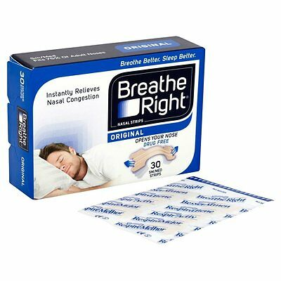 Breathe Right Nasal Strips Insomnia and Snore Relief, Small/Medium - Pack of 30