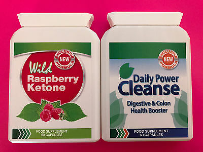 3 x wild raspberry ketone 60caps 3x daily power cleanse 60caps picclick uk. Black Bedroom Furniture Sets. Home Design Ideas