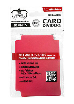 10 Intercalaires Card Dividers Standard Rouge Ultimate Guard Magic Pokémon