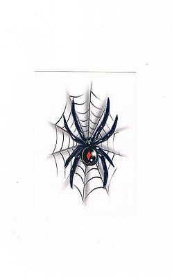 1 x Redback / Black Widow Spider Temporary Tattoos - Great Party Favours