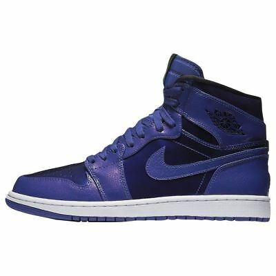 Nike Men's Air Jordan I RETRO HIGH Shoes Deep Royal/Black 332550-420 a