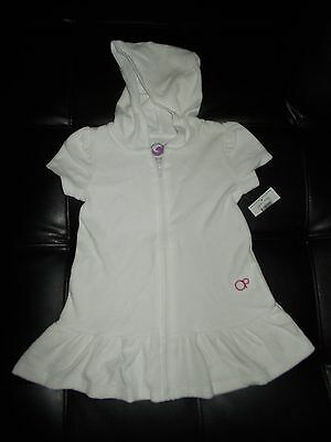 White Terry Cloth Cover up Girls (3-T) New with tags & FREE SHIP