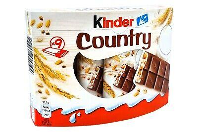 KINDER COUNTRY ~ genuine chocolate from Germany ~ 27 Bars / 22.4 oz / 635 g