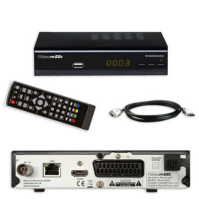 g kabel receiver HD MICRO M 22C USB LAN HDMI Scart EPG DVB-C TV CABEL Receiver