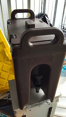 5 Gallon Cambro Insulated Drink Dispenser LCD 500 #5120 Brown NSF Catering Hot
