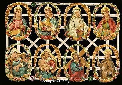 Die Cut Scrap German Vintage Style Embossed - Easter / Christmas Jesus   EF7334