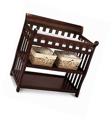 Delta Children Eclipse Changing Table, Black Cherry