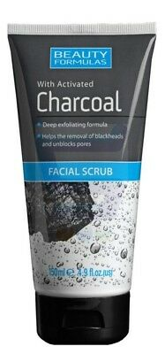 Beauty Formulas With Activated Charcoal Facial Scrub D Exfoliating Formula 150ml
