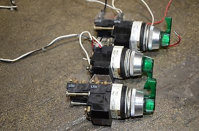 Allen Bradley Green Selector Switch 800T-16HX17KB6 Lot of 3