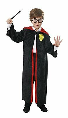 Wizard Boy Outfit Childrens Harry Potter Fancy Dress Costume Lot Set Ages 4-12