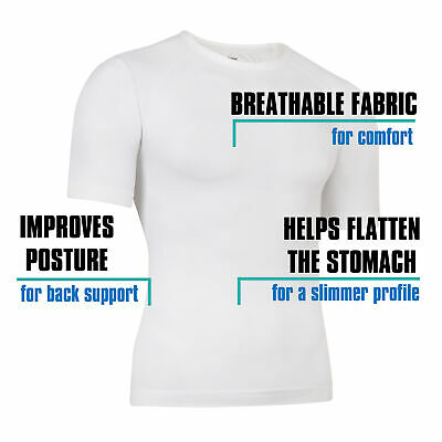 Mens Compression Base Layer Tight Top Sports T-Shirts Slimming Size M-XL