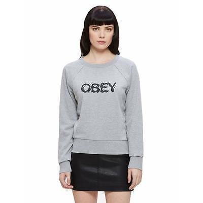 Sweat Obey Static Age femme heather grey