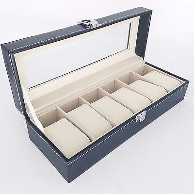 Watch Display Box Case Faux Leather Jewelry Display Box 6 / 10 / 12 GRIDS GN