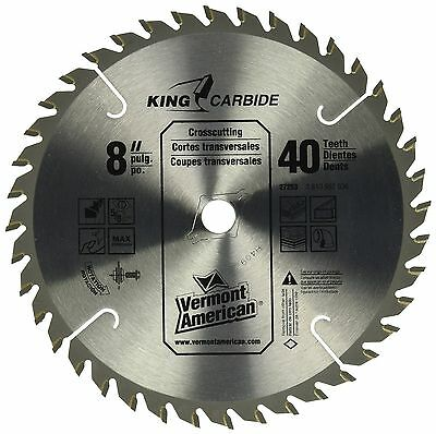 Vermont American 27253 8-Inch 40T Smooth Cut Carbide Circular Saw Blade NEW