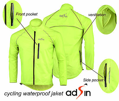 Men's Water / Wind Proof  Cycling Running Outdoor Jacket Lightweight Reflective