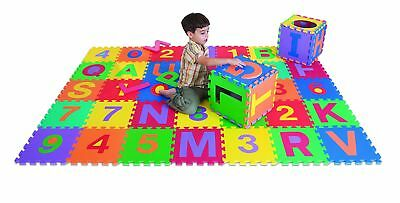 Edushape Edu-Tiles 36 Piece 6x6ft Play Mat Letters & Numbers Set 36 Pieces NEW