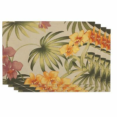 Tommy Bahama African Orchid Pack of 4 Placemats Linen NEW