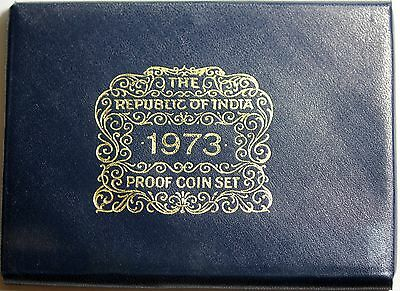1973 Republic Of India Proof Set Bombay Mint With Box And COA