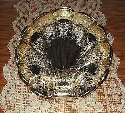Absolutely Gorgeous Vtg. Wallace Bros. Silver Plate Seashell Serving Bowl #2817C