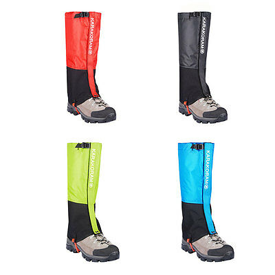 1Pair Waterproof Outdoor Hiking Walking Hunting Trekking Snow Legging Gaiters