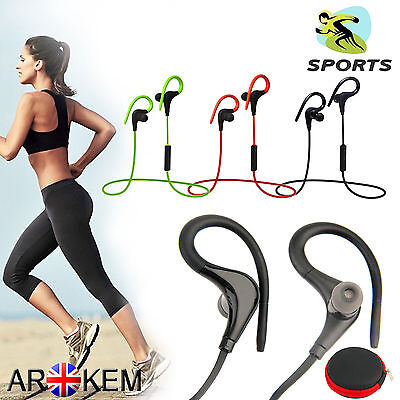 Sport Sweatproof Wireless Bluetooth Mic Headset In-Ear Stereo Headphone Earphone