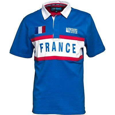 France Rugby 2015 World Cup Mens S/sleeve Rugby Jersey Royal Xl Brand New