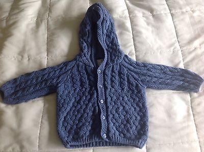 Baby Boden Boy Blue Knitted Jacket 6-9 Months