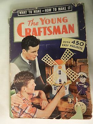 Vintage 1943 Popular Mechanics The Young Craftsman Book/manual