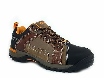 Wolverine  CHISEL LOW ST Steel Toe EH Men's Work Safety  Brown Leather Shoes